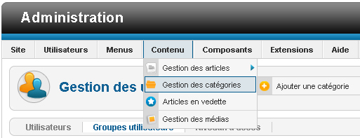joomla first steps content