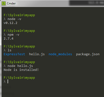 node.js commandes capture